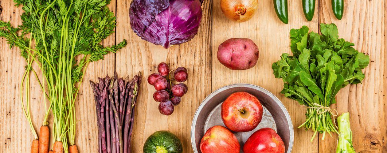 Healthy food from garden